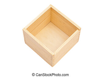 empty wooden box isolated white