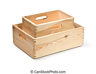 empty wooden crate isolated