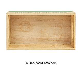 empty wooden crate, top view
