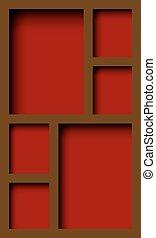 cupboard - empty wooden cupboard with shelves