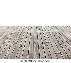 empty wooden floor isolated on white