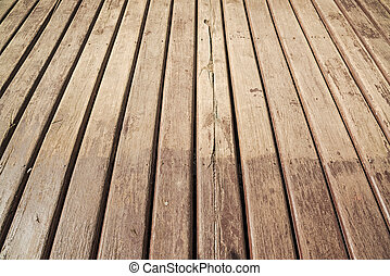 Empty wooden floor