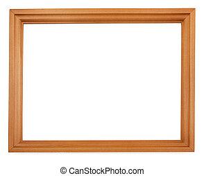 Empty wooden frame - Empty wooden cedar picture frame ...