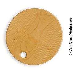 Empty wooden hardboard isolated on white