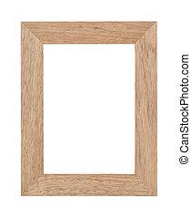 Empty wooden photo frame