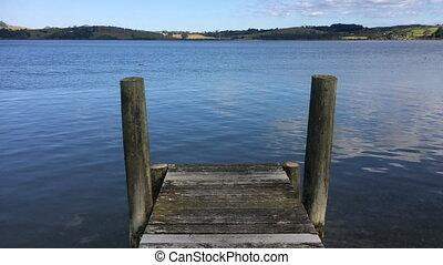 Empty wooden pier - Landscape view of an empty wooden pier...
