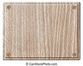 Empty wooden plank light wood isolated on white background