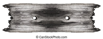 Empty wooden sign on white background