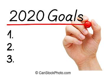 Empty Year 2020 Goals List Concept