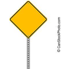 Empty Yellow Sign