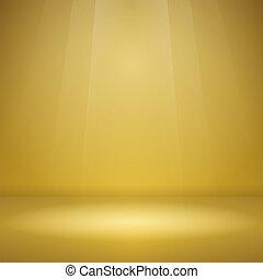 Empty Yellow Stage