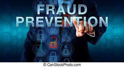 empujar, forense, fraude, examinador, prevención