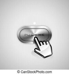 empurrão, mim, botão
