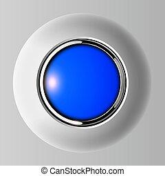 empurre botão, azul