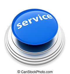 empurre botão, conceito, serviço