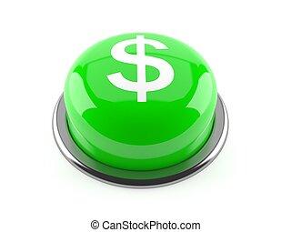 empurre botão, símbolo dólar