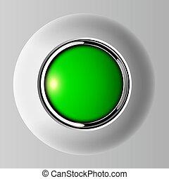 empurre botão, verde