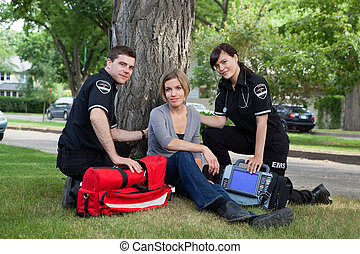 EMT Team with Patient