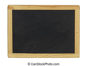 emty black chalkboaerd with wooden frame