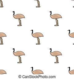 Emu icon in cartoon style isolated on white background....