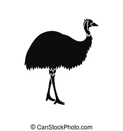 Emu icon, simple style - Emu icon in simple style isolated...