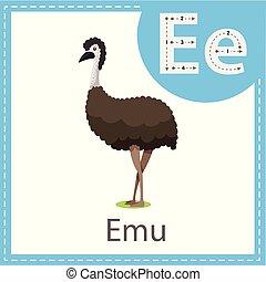 emu, ilustrador, pájaro