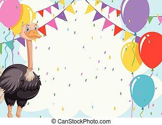 emu, invitiaion, tarjeta, celebración