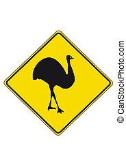 Emu road sign from australia