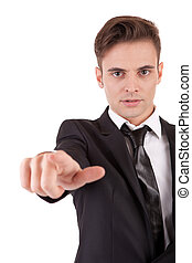 en avant!, homme, business, pointage