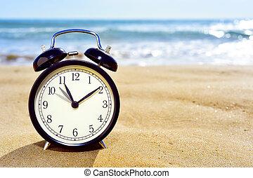 en avant!, horloge, temps, ajustement, été