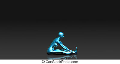 en avant!, pose, yoga, coude, assis