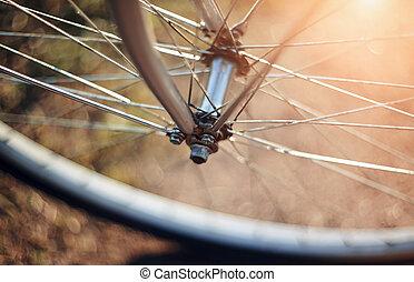en avant!, roue, bicycle.