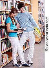 en, biblioteca
