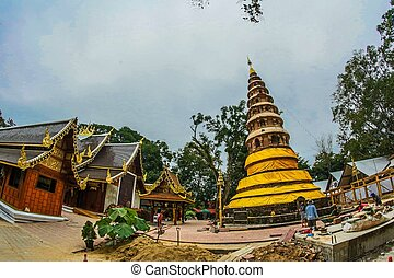 en, chiangmai, tailandia, wat