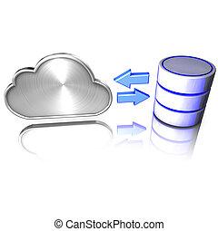 en, database, byde, tjenester, til, den, sky