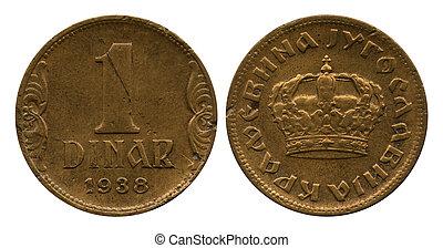en, dinar, jugoslavien, 1938