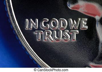 en, dios, nosotros, confianza