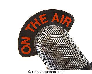 en el aire, micrófono