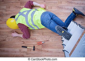 en el empleo, lesión