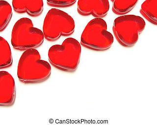 en forma de corazón, gema, plano de fondo