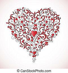 en forma de corazón, ornamento