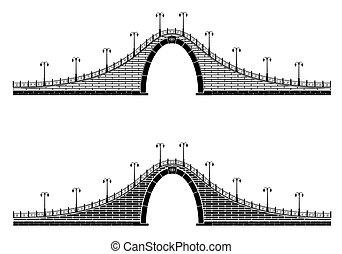 en, forntida, stena bågen, bro
