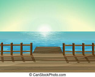 en, hav, sceneri