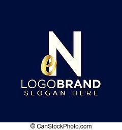 en initial letter logo vector template