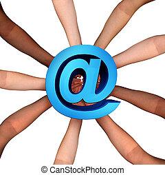 en línea, comunidad