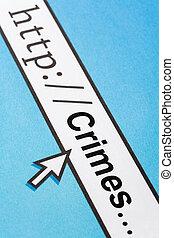 en línea, crímenes