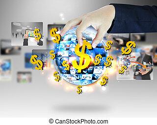 en línea, empresa / negocio