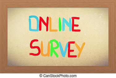en línea, encuesta, concepto