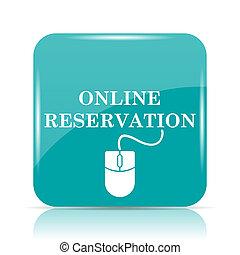 en línea, reservación, icono