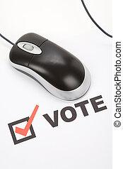 en línea, votación